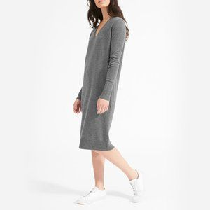 Everlane The Cashmere V-Neck Midi Dress Charcoal S